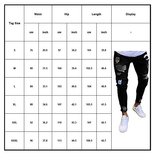 Grau Pantaloni Vintage Stretch Jeggings Qk Da Holes Fashion Jeans Casual Skinny Uomo Ragazzo Pants Ripped Denim lannister a5wqg