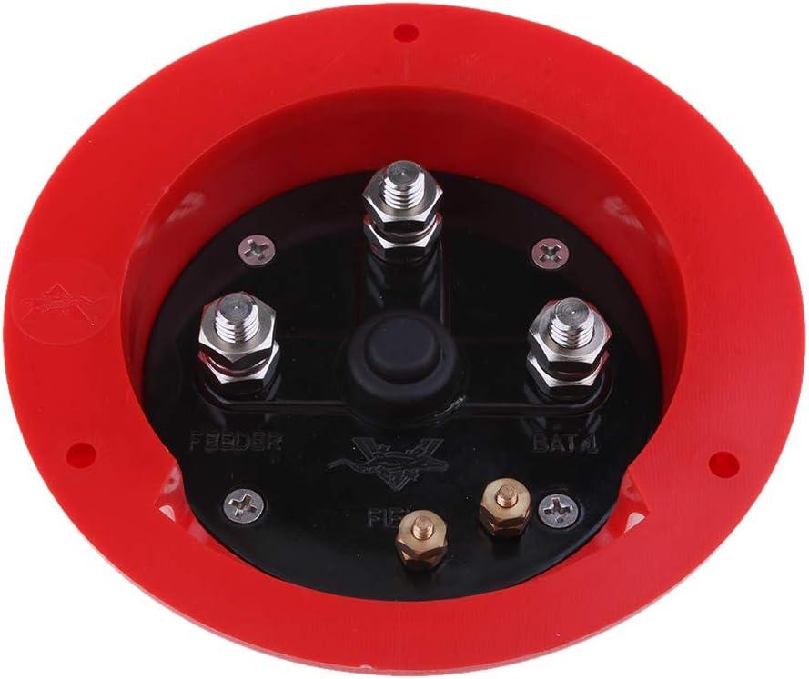 H HILABEE Marine Boat//RV Mini Interruptor Selector De Bater/ía Dual 1 2 Apagado Ambos