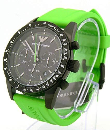 - Emporio Armani Watch, Men's Chronograph Tazio Green Rubber Strap