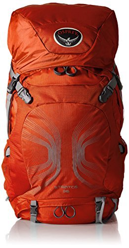 Osprey Packs Stratos 36 Backpack (2016 Model), Solar Flare Orange, Medium/Large [並行輸入品] B07DVNP5C8
