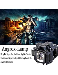 Angrox - Lámpara de proyector de repuesto con carcasa ...