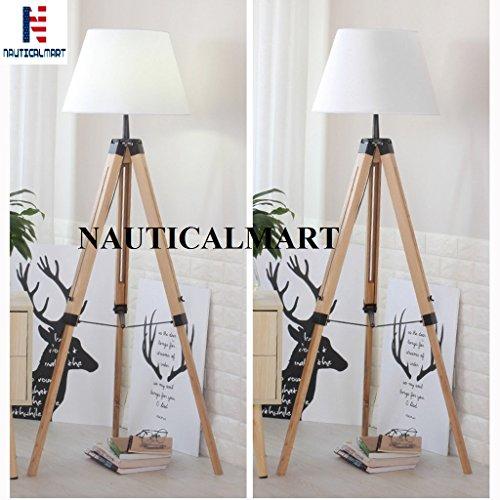Modern Designer Floor Lamp for Living Room, Bedroom, Bedside Lamp - Set of 2 By NauticalMart (Dining Set Usually Ships)