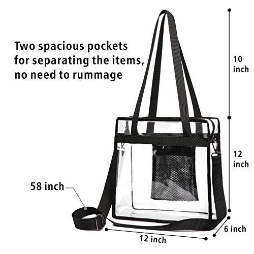 Clear Tote Bag, Packism Clear Bag NFL Stadium Approved Transparent Shoulder Bag