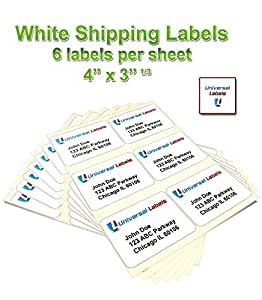 Universal labels 6 up labels in size use with for Universal laser printer labels template