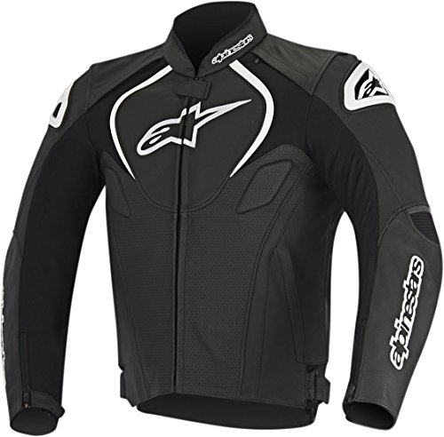 (Alpinestars Men's Jaws Perforated Leather Jacket(Black,EU 56))