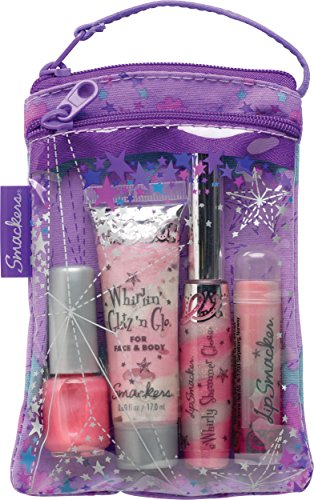 (Smackers Glam It Up Glam Bag Makeup Set, Lip Balm, Lip Gloss, Nail Polish, Lotion)