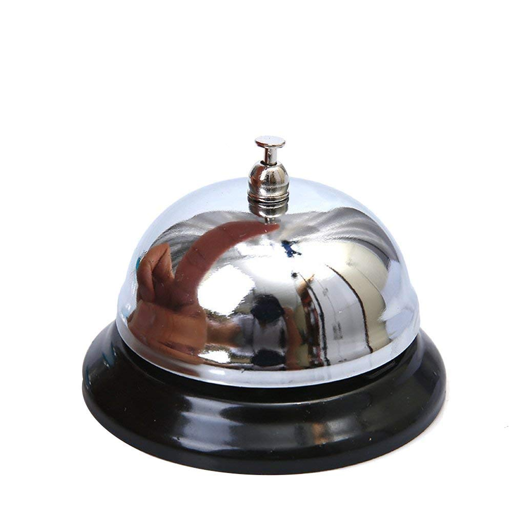 tempo di saldi Campanello Da Tavolo Lucido In Metallo Per Reception Albergo Hotel Ristorante