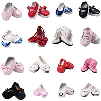 596824be23762 Amazon.com: Dori's Doll Boutique 2 pack Shiny Dress Shoes-White and ...
