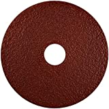 Norton Gemini Metalite F220 Abrasive Disc, Fiber Backing, Aluminum Oxide, 7/8'' Arbor, 4-1/2'' Diameter, Grit 80 (Pack of 25)