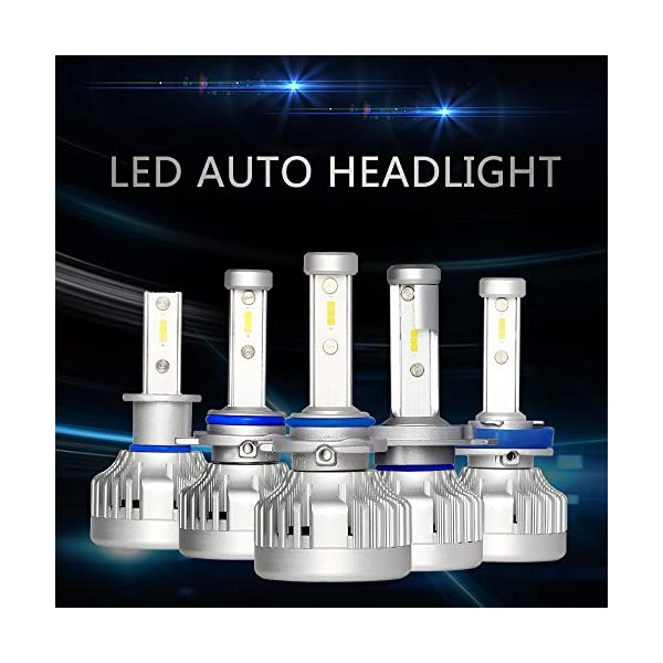 Markcars LED Halogen Headlight Bulb Car All In One Conversion Kit 6000K Seoul Chips 9000LM Cool White 76W Auto Headlamp 2 Year Warranty 2 Packs