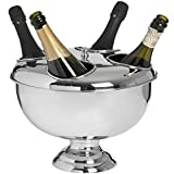 Hill Interiors Four Bottle Chrome Metal Champagne Bottle Holder (One Size) (Silver)