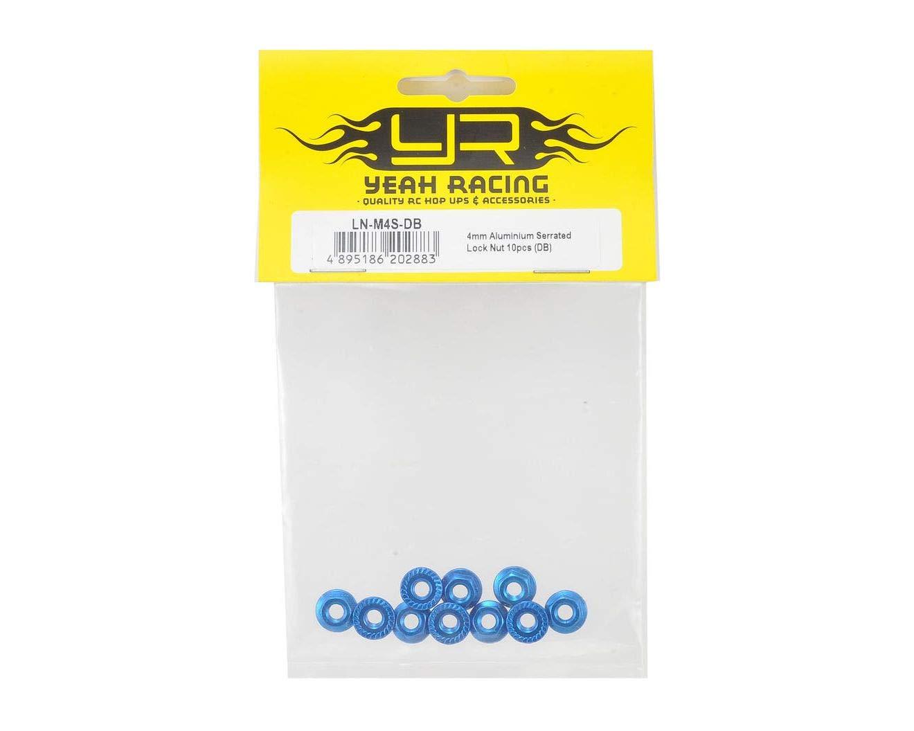 Blue YEALNM4SDB 10 YEA-LN-M4S-DB for 4mm Aluminum Serrated Lock Nut