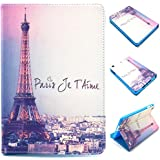 iPad Mini Case, Gift_Source Brand [Stand Feature] Paris Tower - Cute Synthetic Slim Fit Leather Soft TPU Cover Skin For Apple iPad Mini Tablet£¬Sent Screen Protector + Stylus Pen