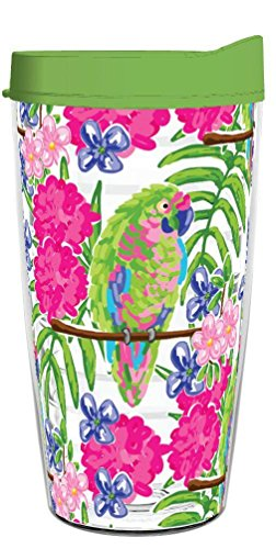 - PARROTS WRAP CLEAR 16oz Tritan Insulated Tumbler With Lid and Straw