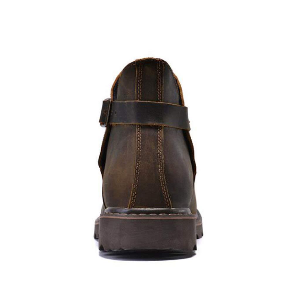 GZZ Schuhe Schuhe Schuhe Herren Martin Stiefel Herbst Und Winter Retro Outdoor Werkzeugausstattung Desert Leather Stiefel,braun-42 310c11