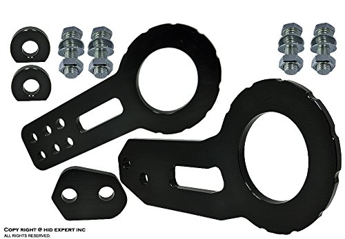 JDM One Set TOW HOOK Racing CNC Aluminum Style BLACK Color Front & Back Kit Combo Set
