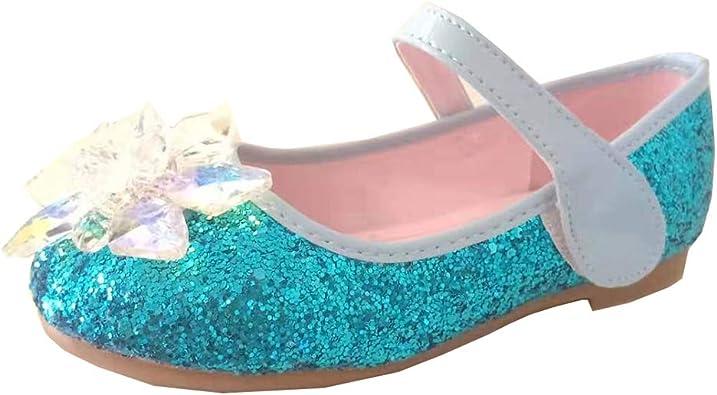 Little Girl Toddler Silver Glitter Shoes Flats Ballerina Pagent Dress Sparkle