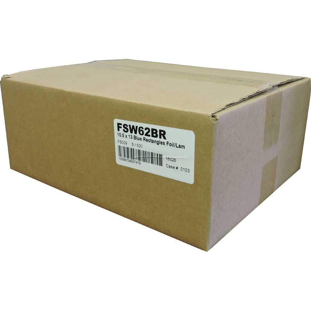 Handy Wacks Blue Rectangle Foil Sheet, 500 Sheets per pack -- 5 per case.