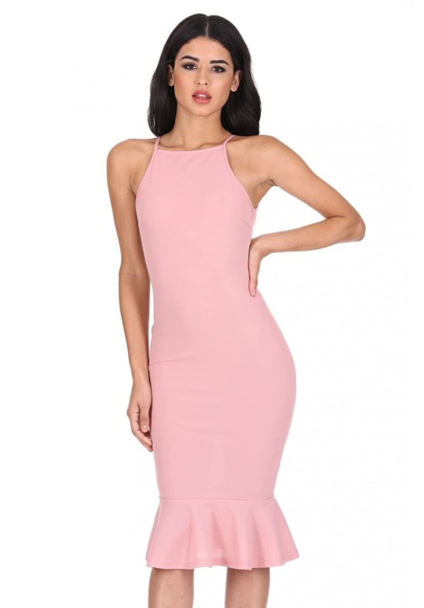 2cff6c803b46 This bodycon midi dress with frill hem is ideal for that elegant style. The  perfect dress for that special occasion a twist on the classic midi dress  giving ...