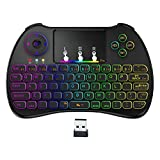 WIDELAND 2.4GHz Mini Wirless Touchpad Keyboard with Mouse, Multifunction remote For PC / Pad / Xbox 360 / PS3 / Google Android TV Box / HTPC / IPTV (Colorful backlit)