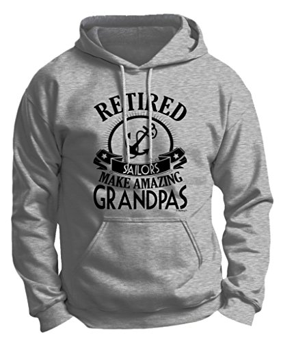 Retirement Grandpa Gift Retired Sailor Premium Hoodie Sweatshirt Large Ash