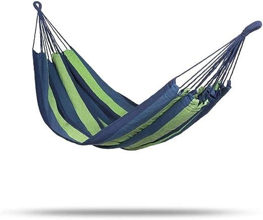 909 OUTDOOR Hamaca Colgante Azul y Verde, Hamaca de algodón para ...