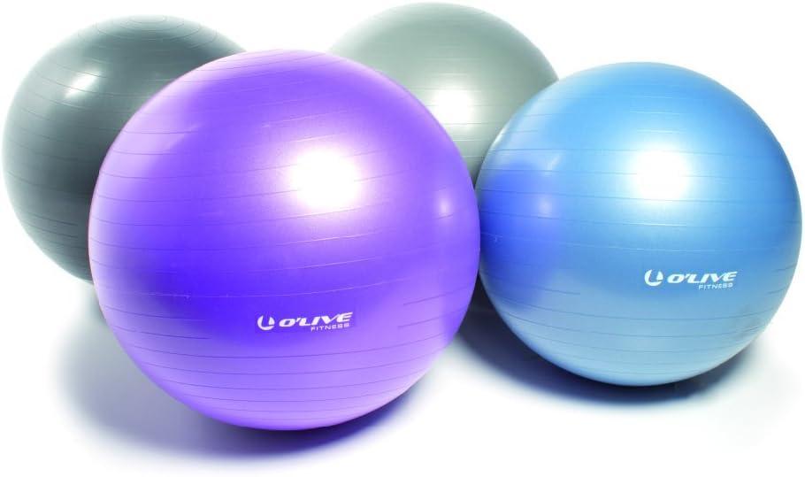O live Fitness ejercicio bola, Gris – 75 cm Pelota de gimnasia ...