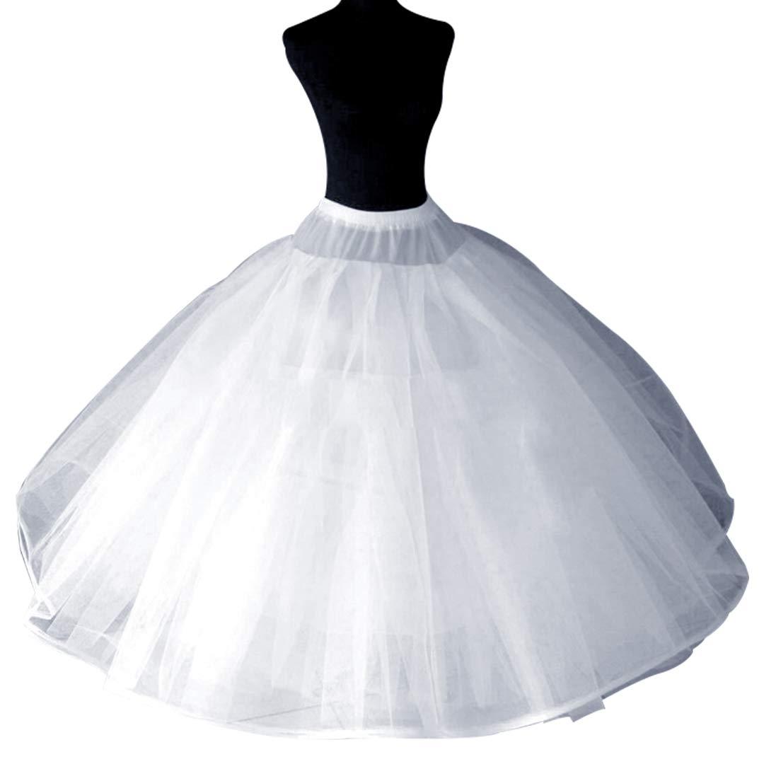 A-Line Hoopless Petticoat Crinoline Underskirt Slip for A-Line Ball Gown Wedding Dress(8 Layers)