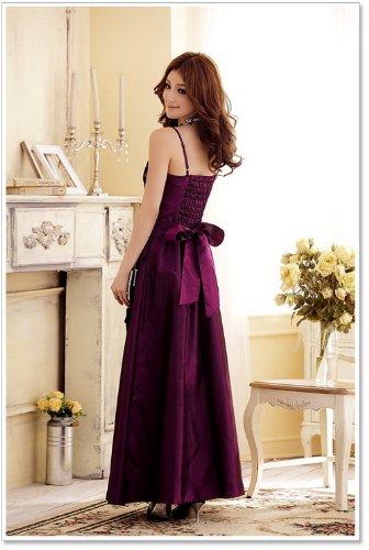 de francés Vestido vestido noble vestido cóctel novia venta fiesta Vestido Caliente Bud Prom versión morado de elegante noche largo Xzp8XFPw