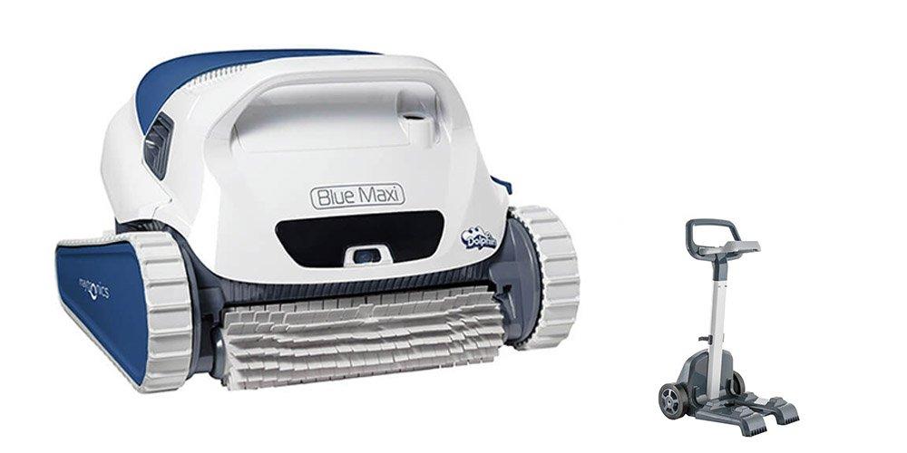 Dolphin BLUE Maxi 35 - Robot automático limpiafondos para piscinas (fondo y paredes) sistema de navegación preciso Clever clean.
