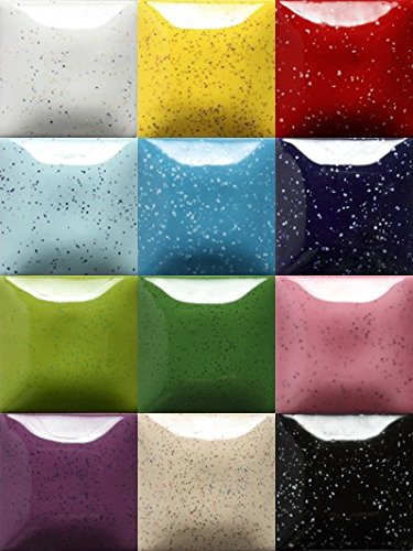 Speckled Mayco Stroke and Coat Wonderglaze for Bisque Set B 1-pint - Set of 12 - Assorted Colors