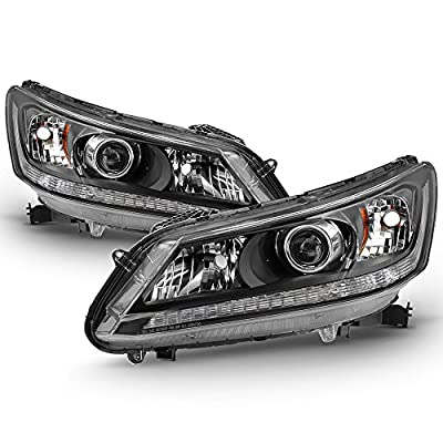 ACANII - For 2013 2014 2015 Honda Accord Sedan Headlights Halogen Model Headlamps Replacement Driver + Passenger Side: Automotive