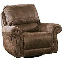 Ashley Furniture Signature Design - Oberson Swivel Recliner - Pull Tab Glider - Gunsmoke