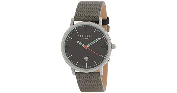 4ede577815 TED BAKER TE50495001 London Black DIAL Grey Printed Leather Strap Mens  Watch  TED BAKER  Amazon.ca  Watches
