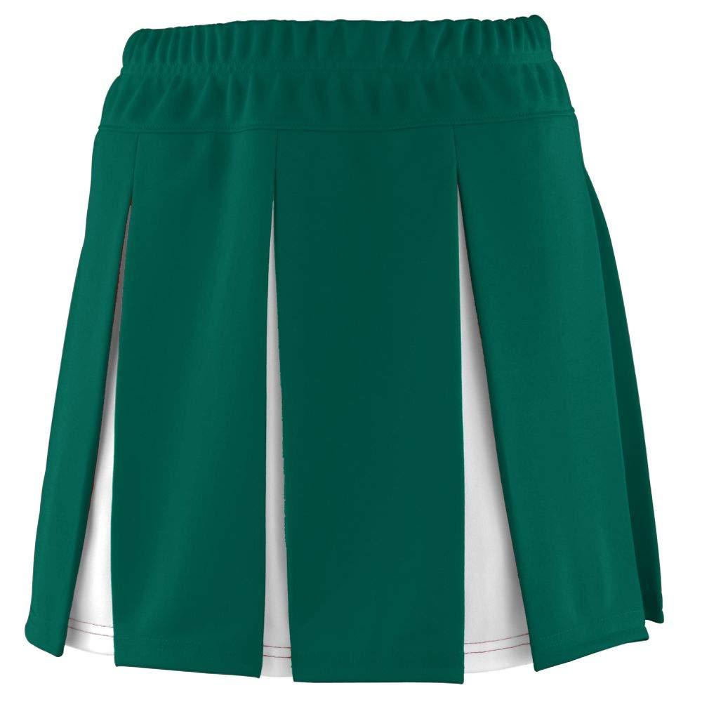 Augusta Sportswear Girls' Liberty Skirt XS Dark Green/White by Augusta Sportswear