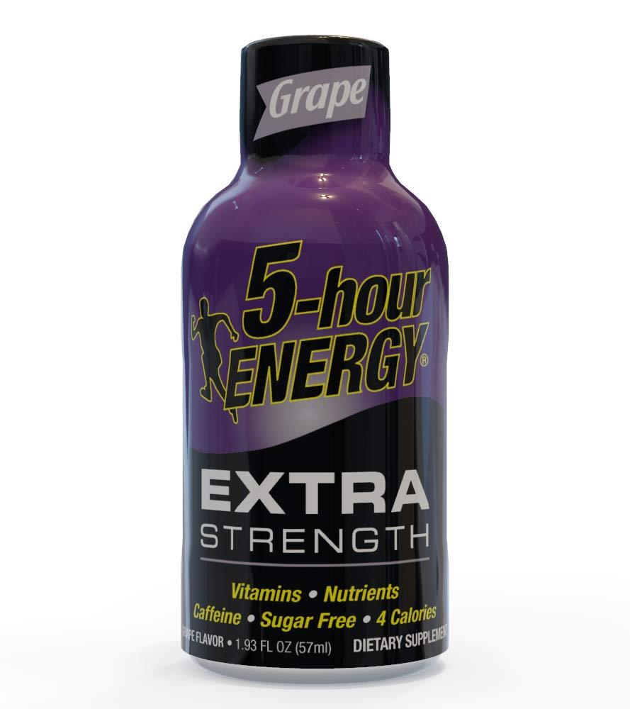 5-hour ENERGY Shot, Extra Strength Grape, 1.93 oz, 24 Count by 5-Hour Energy (Image #1)