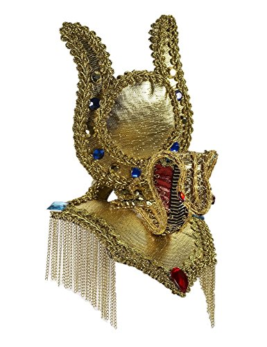 [Gold Egyptian Cocktail Mini Hat Cleopatra Roman Costume Accessory Fascinator Asp] (Ancient Egypt Costumes)