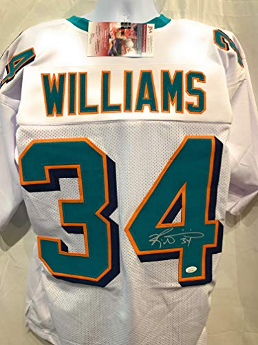 Ricky Williams Miami Dolphins Signed Autograph Custom Jersey White JSA Certified