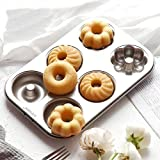 Classic Nonstick Donut Cookie Mold Steel Bakeware Baking Pastry Tool Baking Acceessory Resistant High Temperature, Reusable and Durable Gessppo