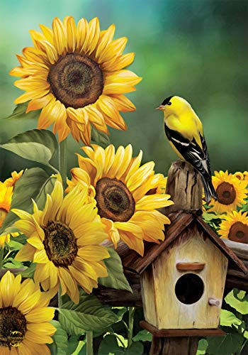 - Briarwood Lane Goldfinch and Sunflowers Summer House Flag Birdhouse Floral 28