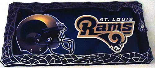 1 , Football Sign of the, SAINT LOUIS RAMS , Metal Sign, in a Black Metal Frame with Silver Spider & Web,,31B1.4+17B5.4+3001+
