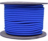 Royal Blue 1/8'' Shock Cord - BORED PARACORD Marine Grade Shock / Bungee / Stretch Cord 1/8 inch x 100 feet Several Colors - Made in USA