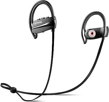 yobola Ultra Longue Autonomie Écouteurs Bluetooth 4.1 sans Fil Oreillette Intra Auriculaire Casque Sport Etanche Réduction du Bruit avec Microphone