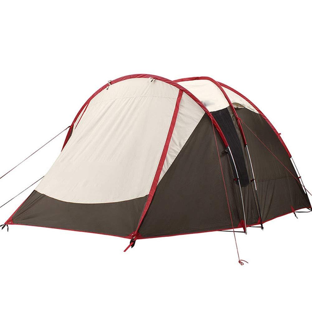 Zyh Tienda de campaña, Acampada al Aire Libre Doble Capa 4 Personas Carpa Familia Picnic montañismo Protector Solar Impermeable Carpas de cámara Posterior vestibular,300  300  225CM