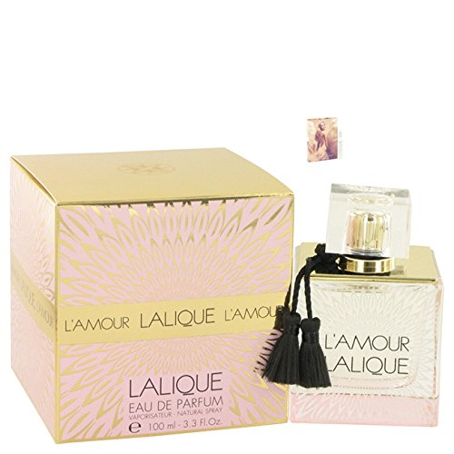 Láliqúe L'amóur Perfume 3.3 oz Eau De Parfum Spray For Women Free! MA 0.06 oz Vial (L The And Gabbana One Dolce)