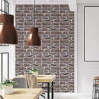 Cumtur Ceramic Tile,Self Adhesive Wallpaper PVC Waterproof Stone Brick Wall Paper DecorLK-513