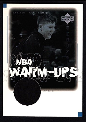 - MIKE MILLER 2000/01 UD UPPER DECK ENCORE WARM-UPS RELIC GAME USED JERSEY SP $20