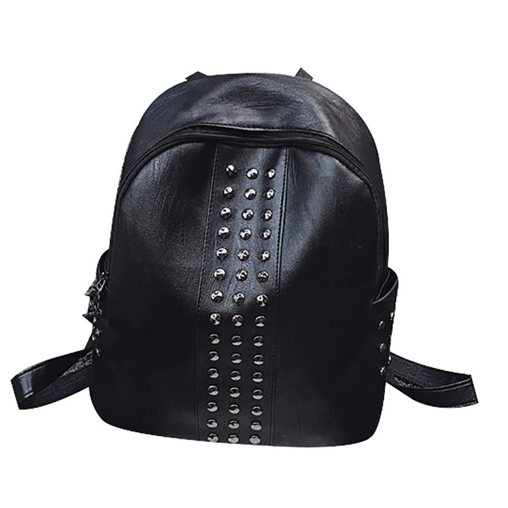 Amazon.com  Slendima Faux Leather Cool Rivet Backpack 596e4c18f1202