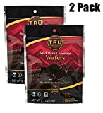 Organic & All Natural 72% Dark Chocolate Wafers by TRU Chocolate®, No Sugar, Vegan, Gluten Free, NON GMO, (2 Pack)