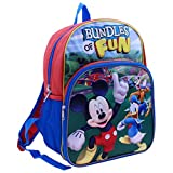 Disney Mickey Mouse, Donald Duck and Goofy Bundles of Fun 14 inch Backpack